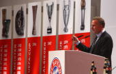 Munichs CEO KarlHeinz Rummenigge speeks to the audience during the Bayern Munich General Annual Meeting at the Nockherberg on November 12 2007 in...