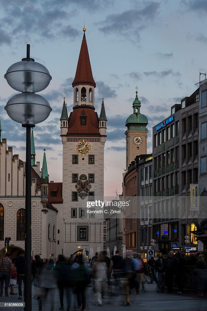 Munich's Old Town Hall : Stock Photo