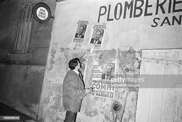 Municipal Elections In Marseille In March 1965 En France élections municipales de mars 1965 à Marseille Pendant la campagne électorale la nuit un...