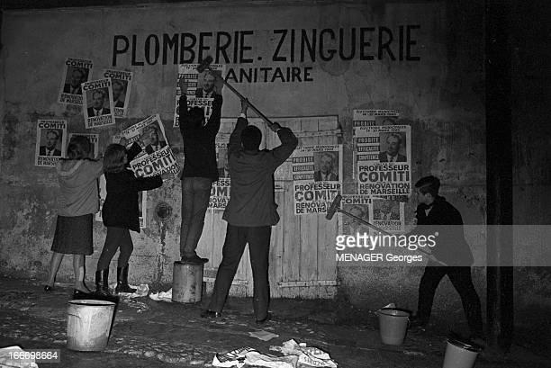 Municipal Elections In Marseille In March 1965 En France élections municipales de mars 1965 à Marseille Pendant la campagne électorale la nuit les...