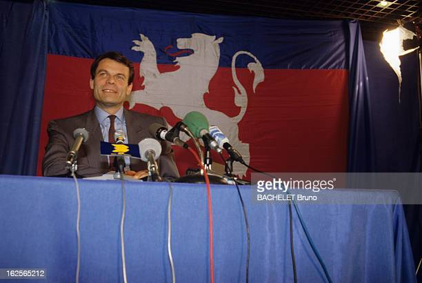 Municipal Elections Of May 12Th And 19Th 1989 In Lyon Michel Noir Leading In The 1St Round Lyon 13 Mars 1989 Michel NOIR candidat RPR en tête à...