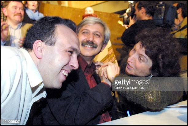 Municipal Elections Only one list for Left Wing for the second round In Toulouse France On March 132001 Salah Amokrane Francois Simon and Marie...