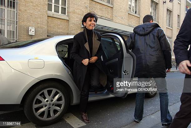 Municipal Elections Rachida Dati In Paris France On February 16 2008 Municipal elections in Paris Rachida Dati in campaign in the 7th district
