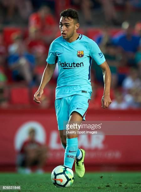 Munir El Haddadi of Barcelona in action during the preseason friendly match between Gimnastic de Tarragona and FC Barcelona at Nou Estadi de...