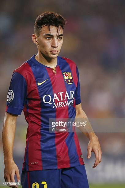 Munir El Haddadi of FC Barcelona during the group F Champions League match between Barcelona and Ajax Amsterdam on October 21 2014 at Camp Nou...