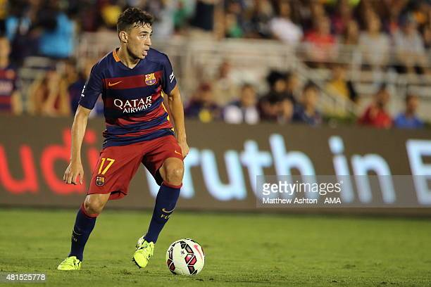 Munir El Haddadi of FC Barcelona during the International Champions Cup 2015 match between FC Barcelona and Los Angeles Galaxy at Rose Bowl on July...
