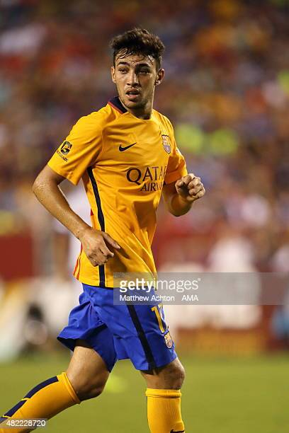 Munir El Haddadi of FC Barcelona during the International Champions Cup match between Barcelona and Chelsea at FedExField on July 28 2015 in Landover...