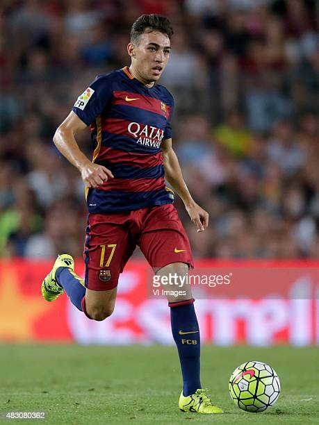 Munir El Haddadi of FC Barcelona during the Joan Gamper Trophy match between Barcelona and AS Roma on August 5 2015 at the Camp Nou stadium in...