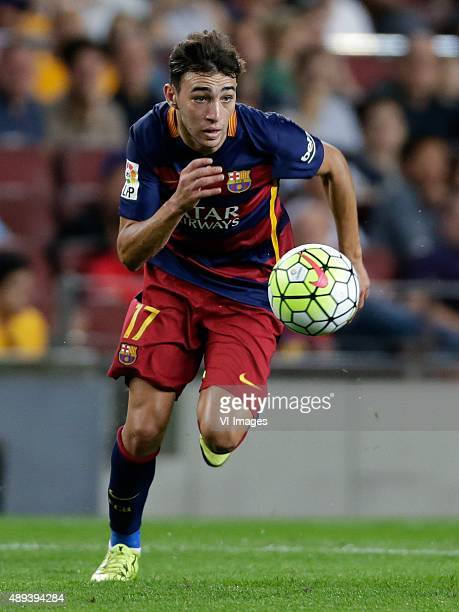 Munir El Haddadi of FC Barcelona during the Primera Division match between FC Barcelona and Levante UD on September 20 2015 at Camp Nou stadium in...