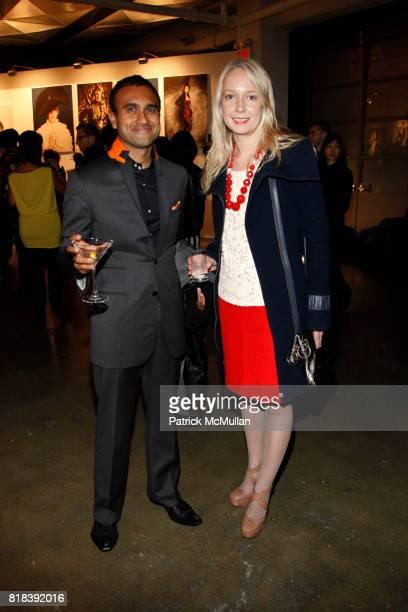 Munjal Shah and Marissa Goodman attend TEMPERLEY LONDON Presentation at Milk Studios on February 16 2010 in New York City