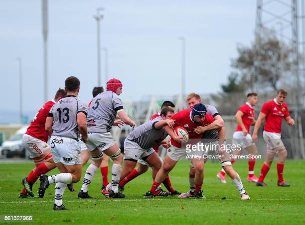 Munster As Ciaran Parker in action during todays match during The British Irish Cup Pool 1 match between Ospreys Premiership Select and Munster A at...