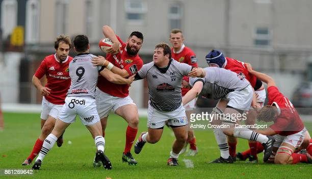Munster As Kevin OByrne in action during todays match during The British Irish Cup Pool 1 match between Ospreys Premiership Select and Munster A at...