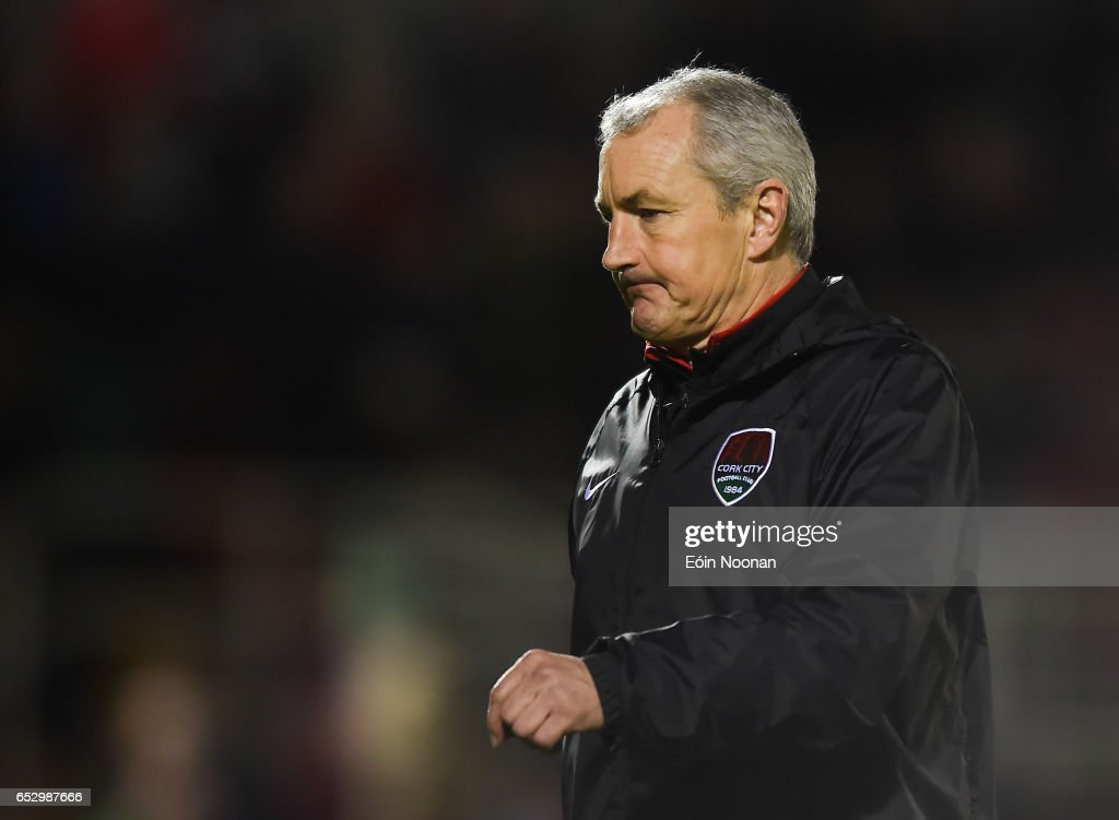Munster , Ireland - 13 March 2017; Cork City manager John Caulfield during the SSE Airtricity League Premier Division match between Cork City and Sligo Rovers at Turners Cross in Cork.