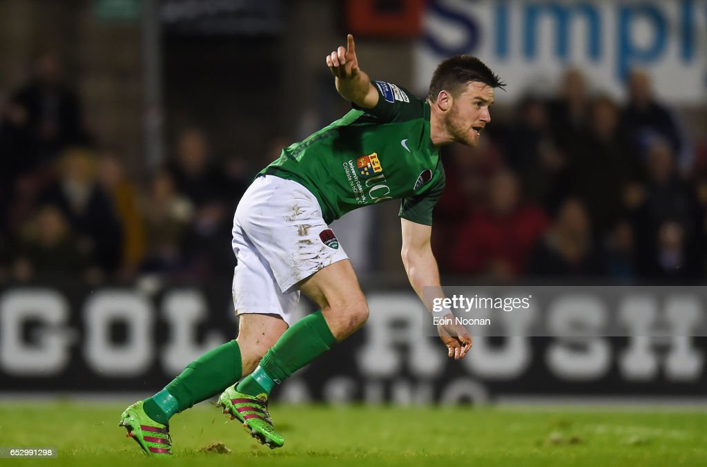 Munster , Ireland - 13 March 2017; Steven Beattie of Cork City celebrates after scoring his side's first goal during the SSE Airtricity League Premier Division match between Cork City and Sligo Rovers at Turners Cross in Cork.
