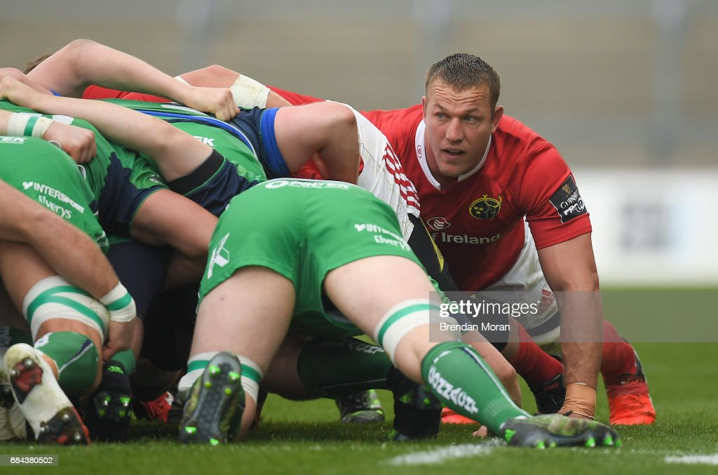 Munster , Ireland - 6 May 2017; Jean Deysel of Munster during the Guinness PRO12 Round 22 match between Munster and Connacht at Thomond Park, in Limerick.