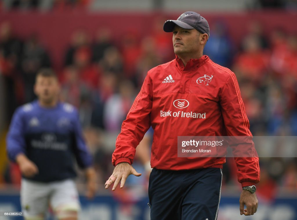 Munster , Ireland - 6 May 2017; Munster defence coach Jacques Nienaber prior to the Guinness PRO12 Round 22 match between Munster and Connacht at Thomond Park, in Limerick.