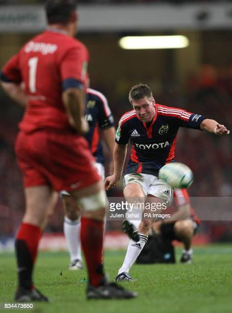 Munster's Ronan O'Gara during the Heineken Cup Final at the Millennium Stadium Cardiff