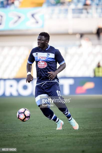 Muntari Sulley during the Italian Serie A football match Pescara vs Udinese on March 15 in Pescara Italy