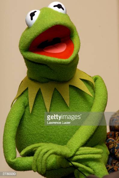 Muppet Kermit the Frog appears at Barnes Noble Lincoln Triangle on November 14in New York City