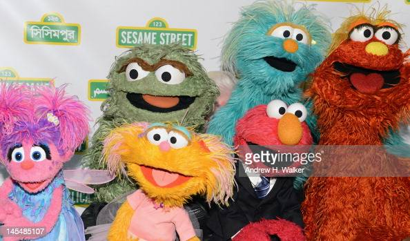 Muppets attend the Sesame Street Workshop 10th Annual Benefit Gala at Cipriani 42nd Street on May 30 2012 in New York City
