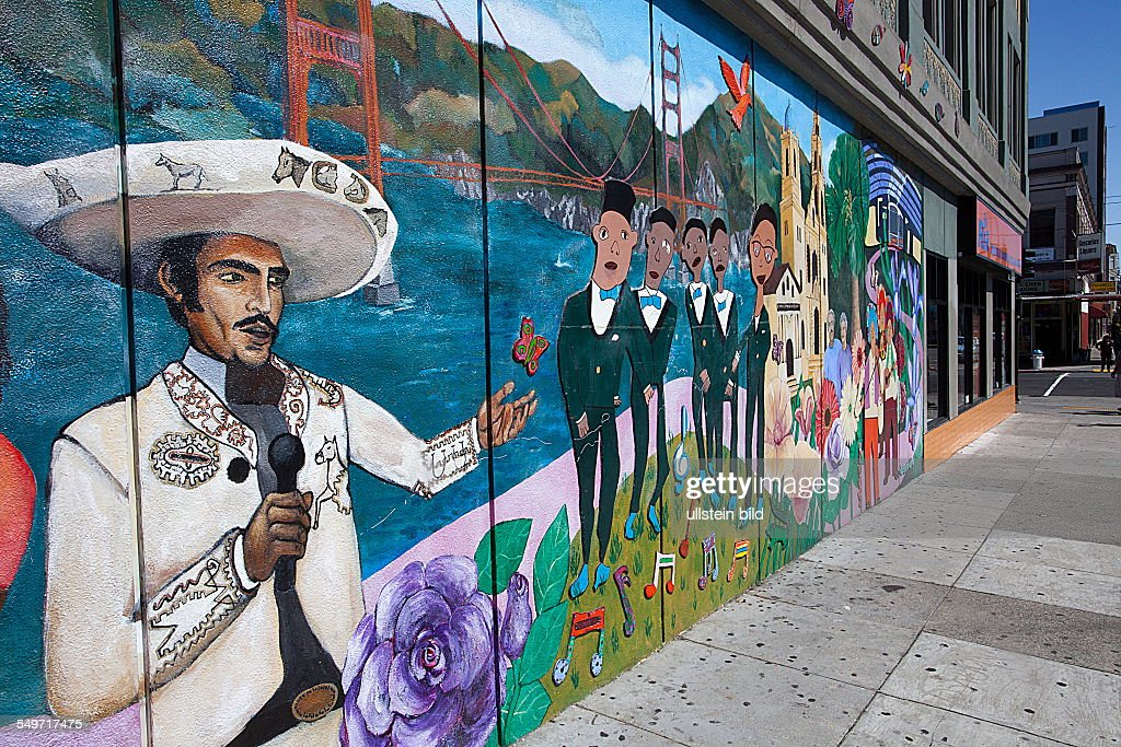 mural in Mission District San Francisco California USA