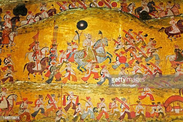 Mural in the Chitrasala, Bundi Palace.