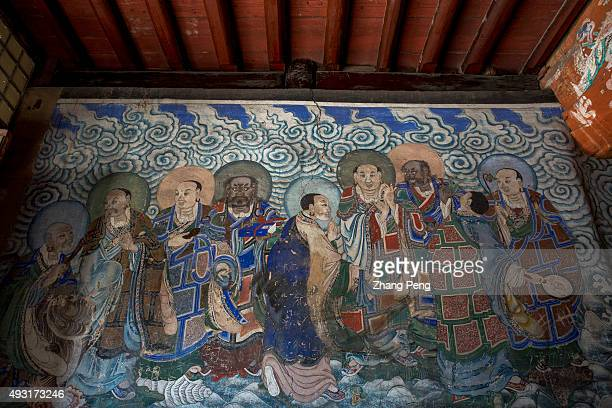 Mural in the sixth cave The Yungang Grottoes composed of 252 grottoes with more than 51000 Buddha statues from the 5th and 6th centuries is one of...