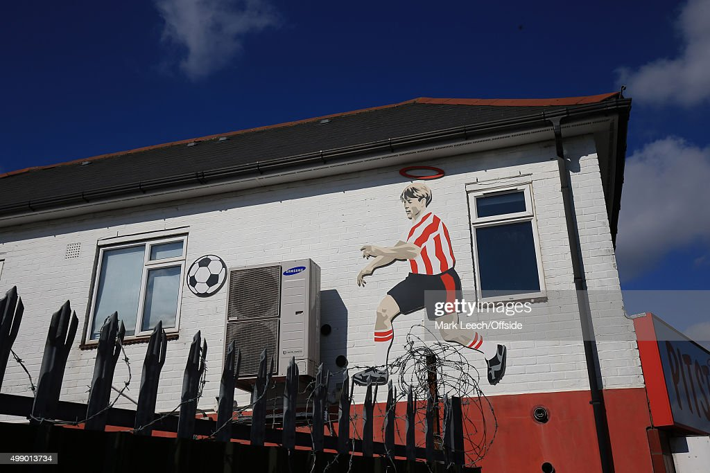 A Mural Of A Southampton Player On The The Wall Of A Local Café During The Part 86
