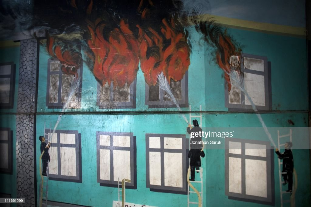 A Mural Of On The Wall In The Kabul Central Fire Station On June 4 2009 Part 83