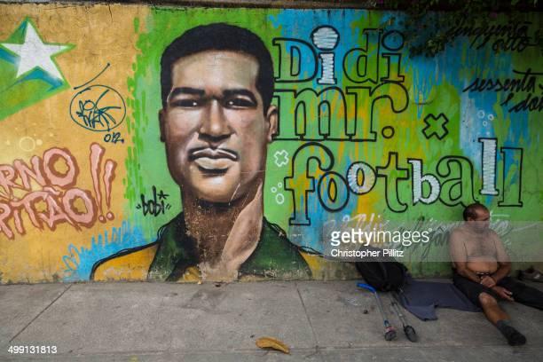 Mural of soccer legend Didi, Rio de Janeiro