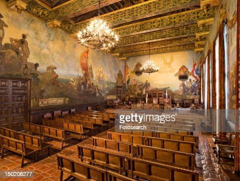 Palais de justice du comt de santa barbara photos et for Mural room santa barbara courthouse