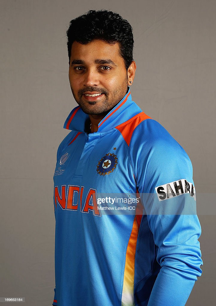 <a gi-track='captionPersonalityLinkClicked' href=/galleries/search?phrase=Murali+Vijay&family=editorial&specificpeople=5592328 ng-click='$event.stopPropagation()'>Murali Vijay</a> of India poses during an India Portrait Session at the Hyatt Hotel ahead of the ICC Champions Trophy at Edgbaston on May 30, 2013 in Birmingham, England.