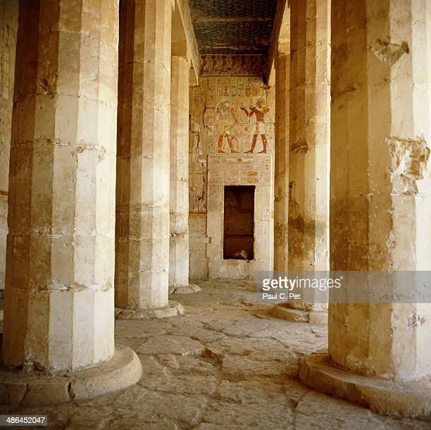 Murals and Columns, Temple of Hatshepsut, Luxor, Egypt