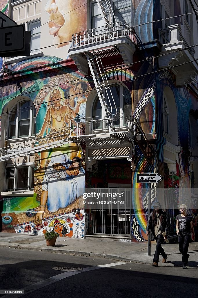 Murals on Mission Street in the Latin American neighborhood Illustration San Francisco in San Francisco United States on September 04th 2007
