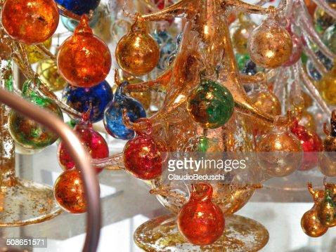 Murano colored blown glass : Stock Photo