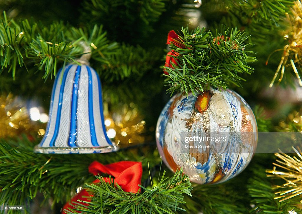 Traditional Glass Christmas Baubles Are Made By Venitian