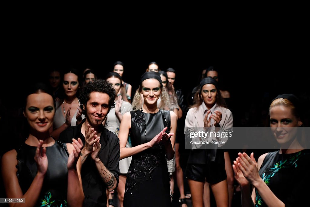 Murat Aytulum walks the runway at the Murat Aytulum show during Mercedes-Benz Istanbul Fashion Week September 2017 at Zorlu Center on September 13, 2017 in Istanbul, Turkey.