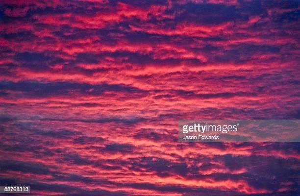 A flaming sunset settles over the desert near the Murchison River.