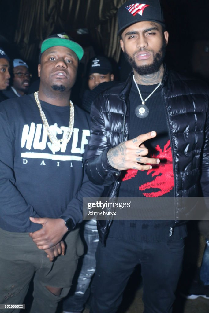 Murda Mook and Dave East during Tanduay After Party With Cardi B And Dave East at The Griffin on March 12, 2017 in New York City.
