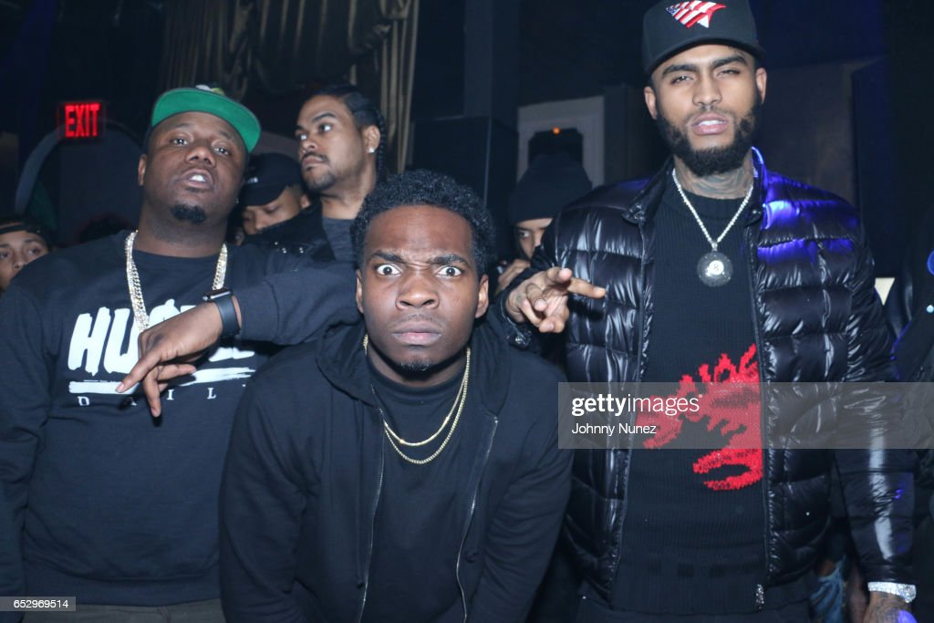 Murda Mook, Jaquae and Dave East during Tanduay After Party With Cardi B And Dave East at The Griffin on March 12, 2017 in New York City.
