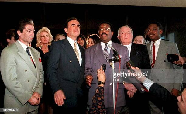 Murder defendant OJ Simpson's defense team announces that attorney Johnnie Cochran Jr will lead the defendant's defense in the high profile case...