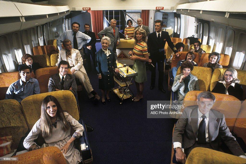 TV - 'Murder on Flight 502' 1975 Elizabeth Stack, George Maharis, <a gi-track='captionPersonalityLinkClicked' href=/galleries/search?phrase=Hugh+O%27Brian&family=editorial&specificpeople=121543 ng-click='$event.stopPropagation()'>Hugh O'Brian</a>, Danny Banaduce, Fernando Lamas, <a gi-track='captionPersonalityLinkClicked' href=/galleries/search?phrase=Theodore+Bikel&family=editorial&specificpeople=993303 ng-click='$event.stopPropagation()'>Theodore Bikel</a>, John Hamner, Molly Picon, Farah Fawcett, <a gi-track='captionPersonalityLinkClicked' href=/galleries/search?phrase=Robert+Stack&family=editorial&specificpeople=213357 ng-click='$event.stopPropagation()'>Robert Stack</a>, <a gi-track='captionPersonalityLinkClicked' href=/galleries/search?phrase=Ralph+Bellamy&family=editorial&specificpeople=227912 ng-click='$event.stopPropagation()'>Ralph Bellamy</a>, Brooke Adams, <a gi-track='captionPersonalityLinkClicked' href=/galleries/search?phrase=Walter+Pidgeon&family=editorial&specificpeople=212852 ng-click='$event.stopPropagation()'>Walter Pidgeon</a>, Dane Clark, <a gi-track='captionPersonalityLinkClicked' href=/galleries/search?phrase=Polly+Bergen&family=editorial&specificpeople=747086 ng-click='$event.stopPropagation()'>Polly Bergen</a>, <a gi-track='captionPersonalityLinkClicked' href=/galleries/search?phrase=Rosemarie+Stack&family=editorial&specificpeople=1668147 ng-click='$event.stopPropagation()'>Rosemarie Stack</a>, <a gi-track='captionPersonalityLinkClicked' href=/galleries/search?phrase=Sonny+Bono&family=editorial&specificpeople=208307 ng-click='$event.stopPropagation()'>Sonny Bono</a>, Laraine Day