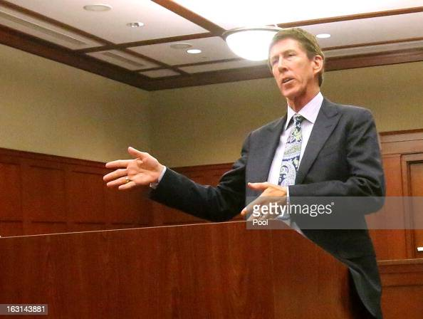 Murder suspect George Zimmerman's defense attorney Mark O'Mara appears during a status hearing in the Trayvon Martin case in Seminole circuit court...