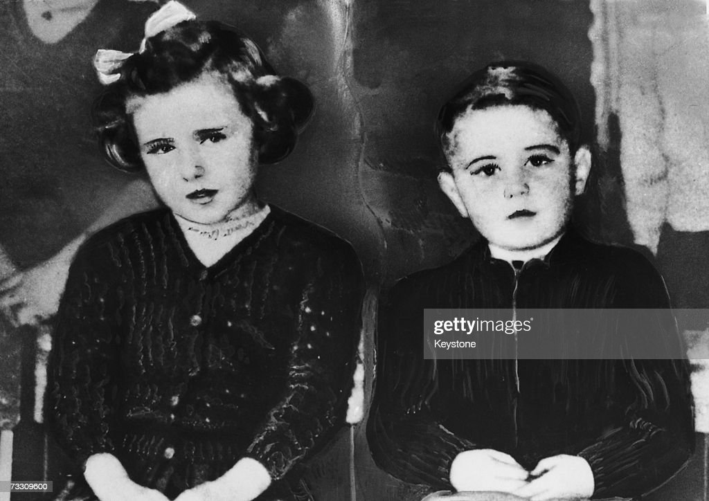 Murder victims seven year-old June Sheasby and her five year-old brother Royston shortly before their disappearance in June 1957. The bodies of the two children were later found in an ash pit in the grounds of a mental hospital in Bristol.