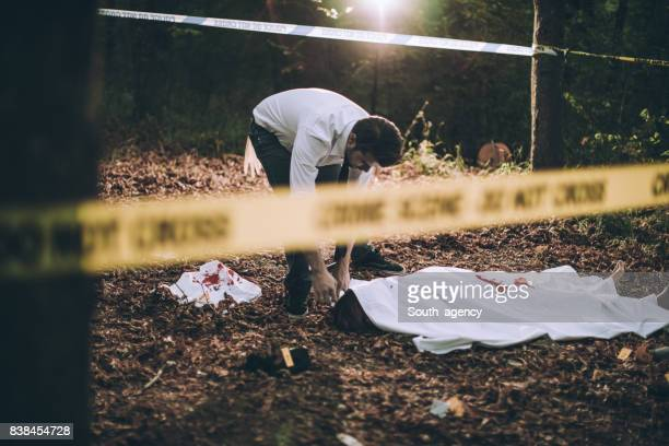 Murder victom in the forest