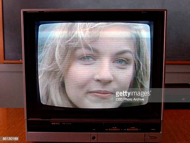 Murdered homecoming queen Laura Palmer played by Sheryl Lee appears in a video in the pilot episode of the hit television show 'Twin Peaks' 1990