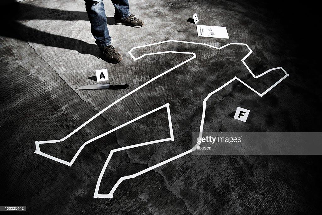 Meurtrier sur le lieu du crime : Photo
