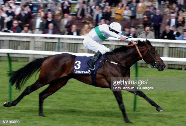 Murfreesboro ridden by jockey Jimmy Fortune wins the 250000 Tattersalls October Auction Stakes at the Rowley Mile racecourse at Newmarket racecourse...