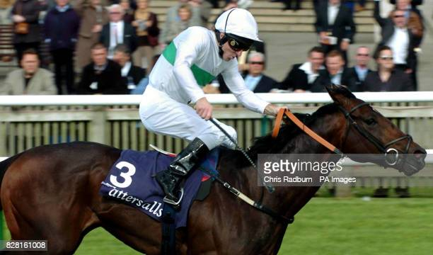 Murfreesboro ridden by jockey Jimmy Fortune wins the 250000 Tattersalls October Auction Stakes at the Rowley Mile racecourse in Newmarket Thursday...