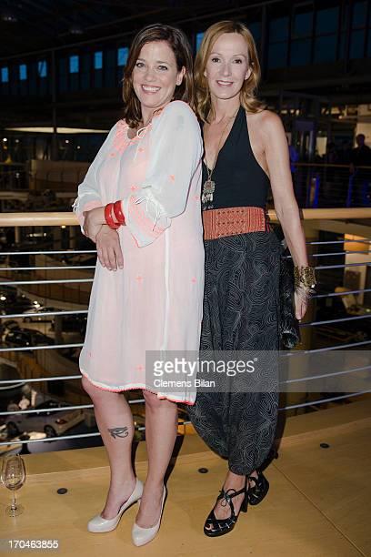 Muriel Baumeister and Katja Flint attend the presentation of the new 'SKlasse' at Mercedes Welt on June 13 2013 in Berlin Germany